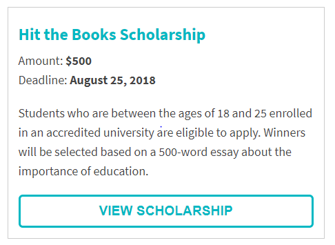 Coffeeforless.com Hit the Books Scholarship