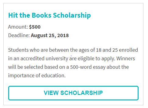 Coffeeforless.com Hit the Books Scholarship
