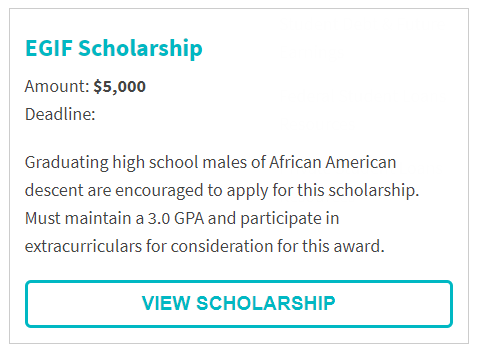 Edwin G. Irvin Foundation Scholarship