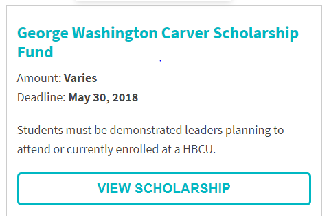 George Washington Carver Scholarship Fund
