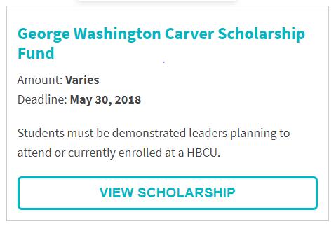 George Washington Carver Scholarship Fund