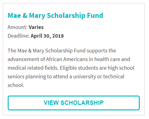 Mae & Mary Scholarship Fund