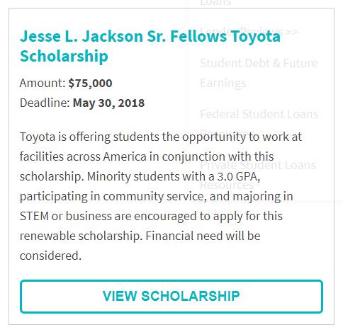 Jesse L. Jackson Sr. Fellows Toyota Scholarship