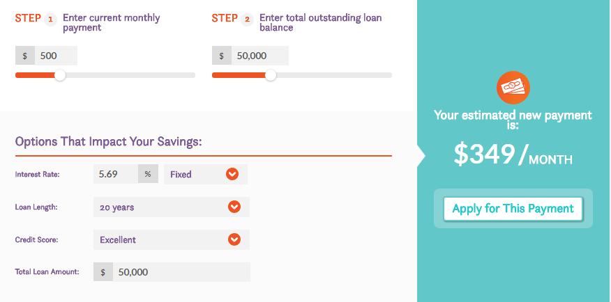 Comet Student Loan Refinance Calculator