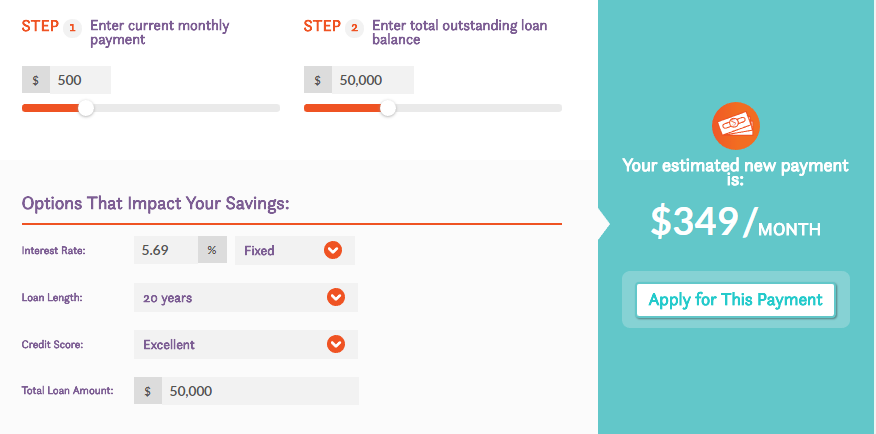 Comet Student Loan Refinance Calculator