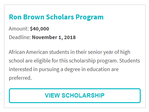 Ron Brown Scholarship