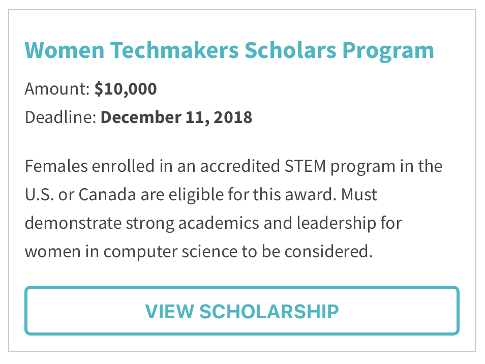 Women Techmakers Scholars Program