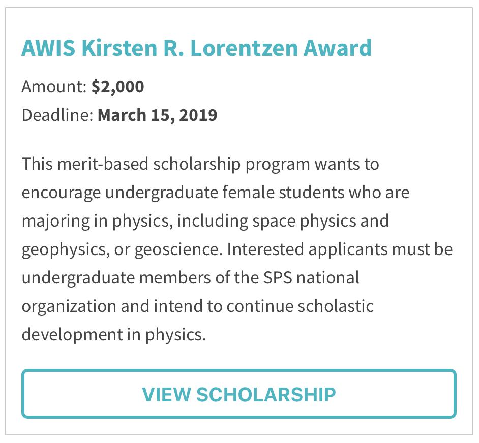 AWIS Kirsten R. Lorentzen Award
