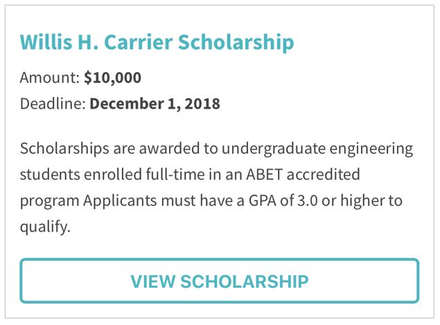Willis H. Carrier Scholarship