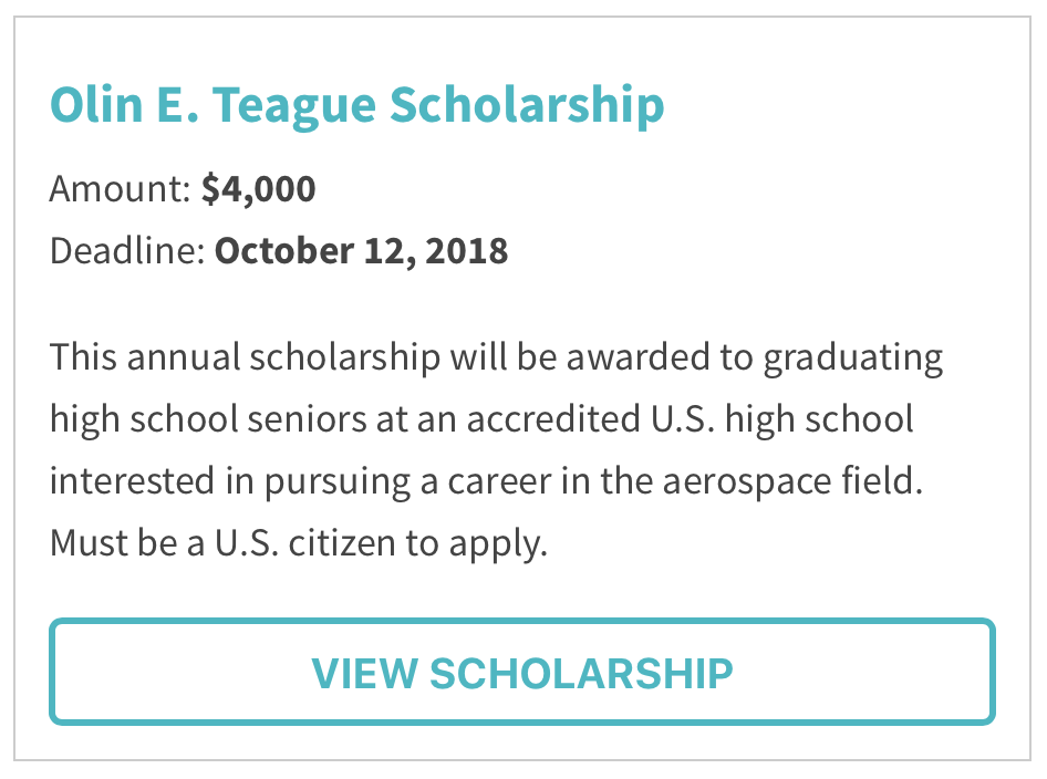 Olin E. Teague Scholarship