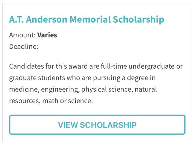 A.T. Anderson Memorial Scholarship