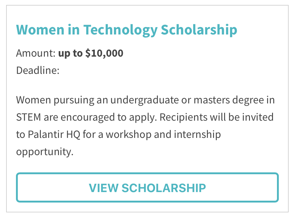 women in technology scholarship