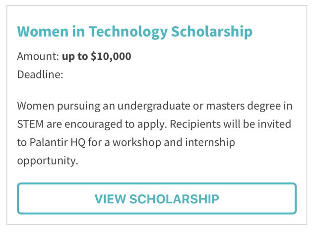 women in technology scholarship