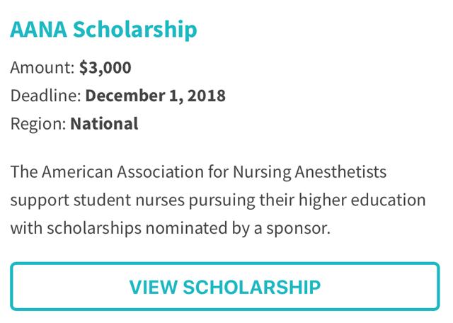 American Association for Nursing Anesthetists Scholarship