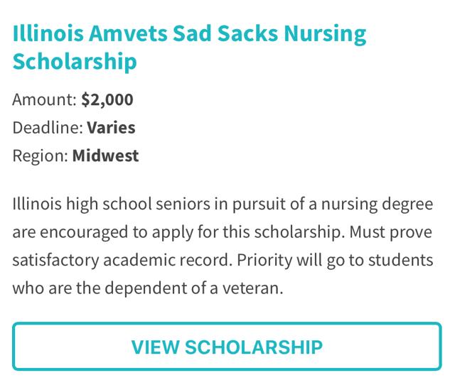 Illinois AmVets Sad Sacks Nursing Scholarship