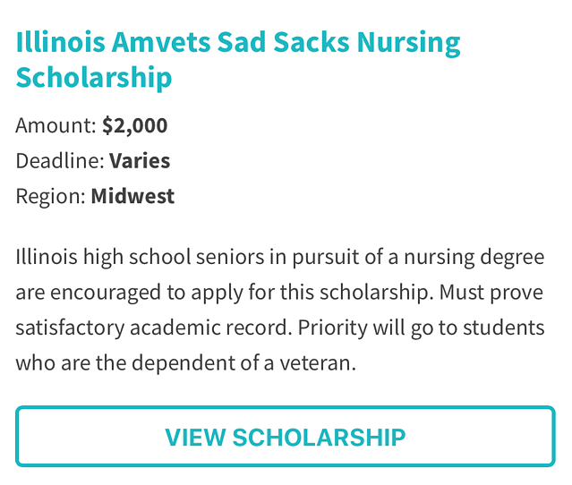 Illinois AmVets Sad Sacks Nursing Scholarship