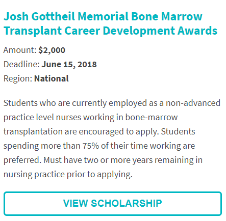 Josh Gottheil Memorial Scholarship Bone Marrow Scholarship