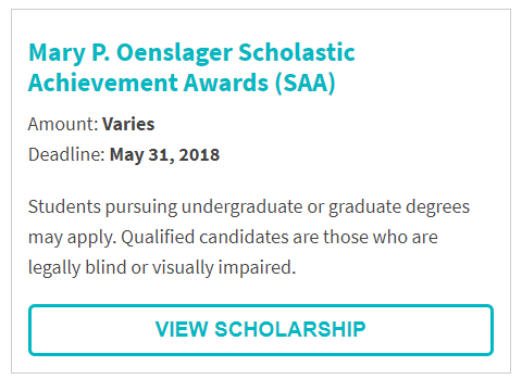 Mary P. Oenslager Scholarship.png