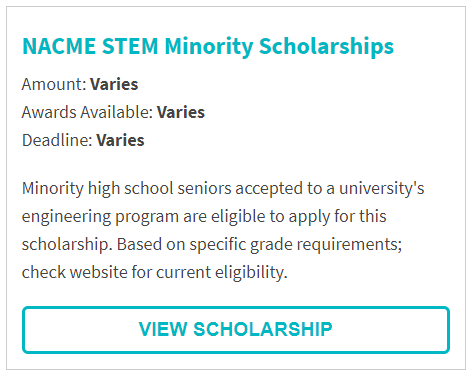NACME STEM Minority Scholarship