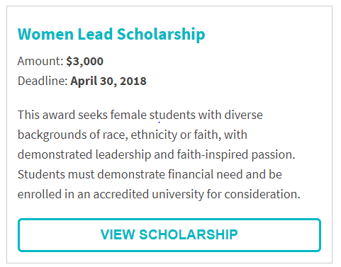 Women Lead Scholarship
