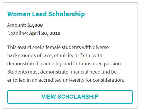 Women Lead Scholarship
