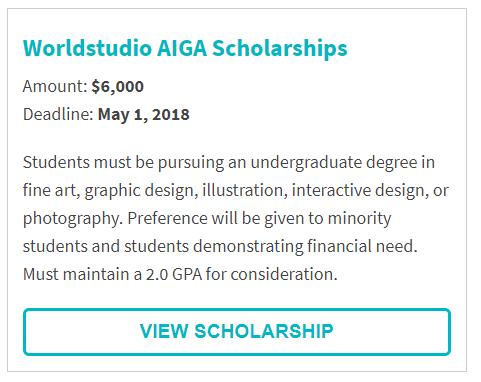 Worldstudio AIGA Scholarships