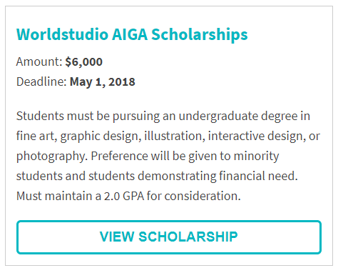 Worldstudio AIGA Scholarships