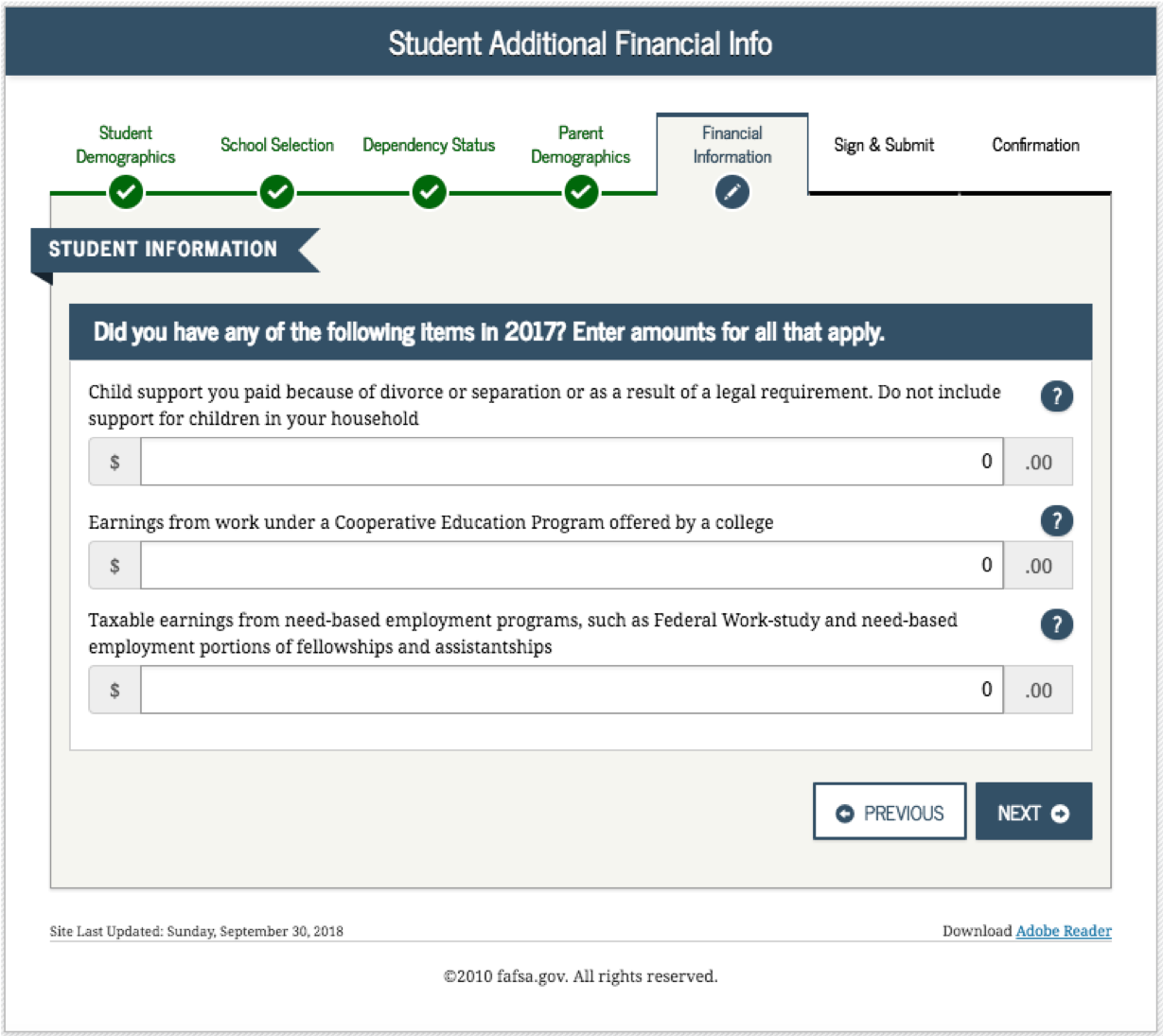 how to complete the 2019-2020 fafsa application